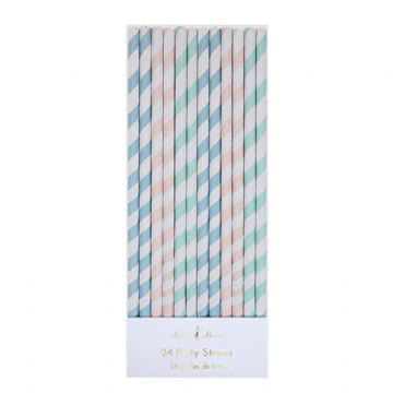 Pastel Party Drinks Straws - pack of 24